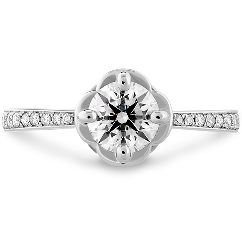 Hearts On Fire Desire Simply Engagement Ring with Diamond Band
