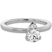Hearts On Fire Desire Simply Teardrop Shape Diamond Engagement Ring