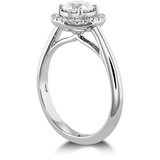 Hearts On Fire Destiny Halo Diamond Engagement Ring