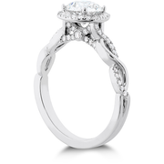 Hearts On Fire Destiny Lace Halo Diamond Engagement Ring