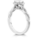 Hearts On Fire Destiny Lace Halo Intensive Diamond Engagement Ring