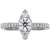 Hearts On Fire Destiny Regal Engagement Ring with Diamond Band
