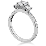Hearts On Fire Destiny Three Stone Diamond Engagement Ring