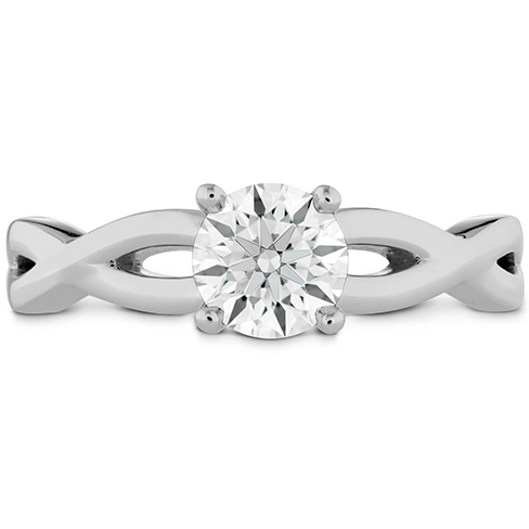 Hearts On Fire Destiny Twist Solitaire Diamond Engagement Ring