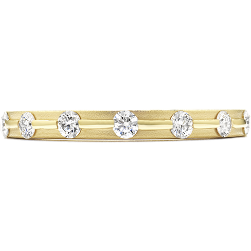 Hearts On Fire Diamond Bar Bamboo Band with Satin Finish