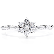 Hearts On Fire Diamond Bar Flower Stackable Ring