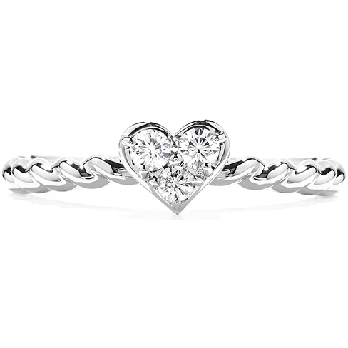 Hearts On Fire Petite Beaded Heart Diamond Ring