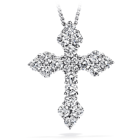 Hearts On Fire Divine Byzantine Cross Pendant Necklace
