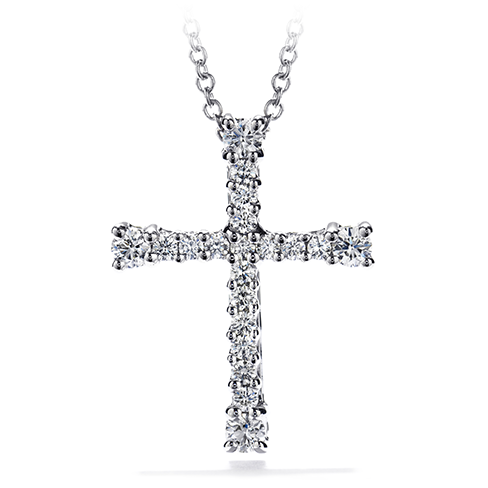 Hearts On Fire Divine Cross Pendant Necklace