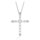 Hearts On Fire Divine Graceful Cross Diamond Necklace