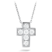Hearts On Fire Divine Mini Cross Diamond Necklace