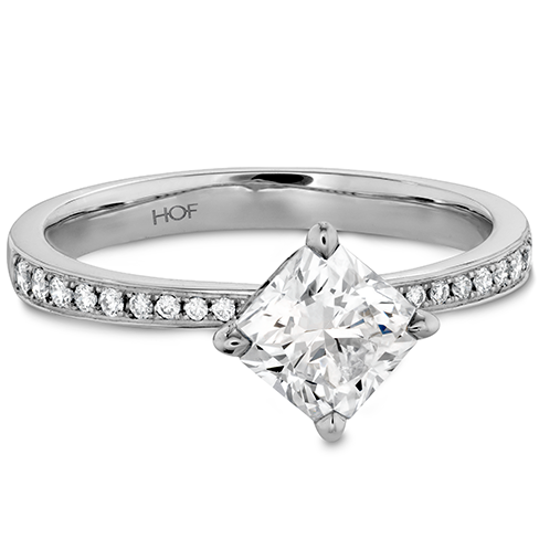 e53c2356f Hearts On Fire Dream Offset Signature Engagement Ring with Diamond Band