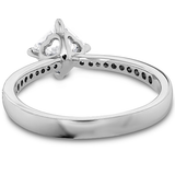 Hearts On Fire Dream Offset Signature Engagement Ring with Diamond Band