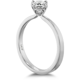 Hearts On Fire Dream Offset Signature Solitaire Diamond Engagement Ring