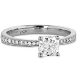 Hearts On Fire Dream Signature Engagement Ring with Diamond Band