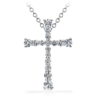 Hearts On Fire Divine Journey Cross Pendant Necklace