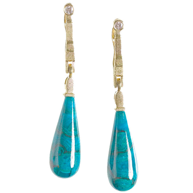 Alex Sepkus Sticks and Stones Chrysocola Earrings - E-160MD