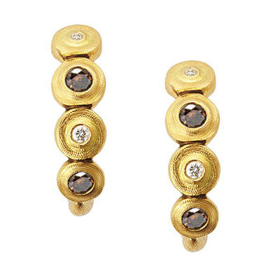 Alex Sepkus Stack Lilly Pad Earrings - E-219DC