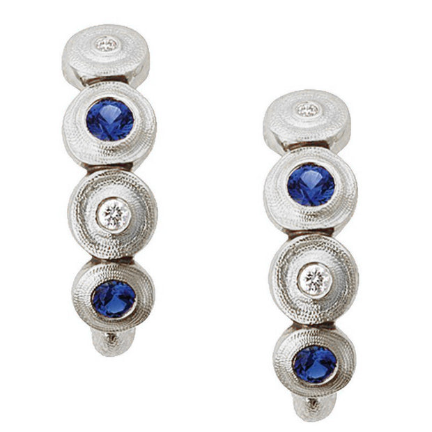 Alex Sepkus Stack Lilly Pad Earrings - E-219PS