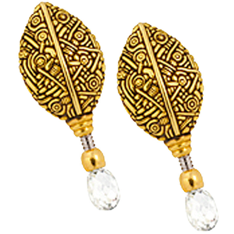 Alex Sepkus Leaf Briolette Earrings - E-66