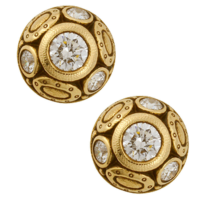 Alex Sepkus Oval Work Earrings - E-69D