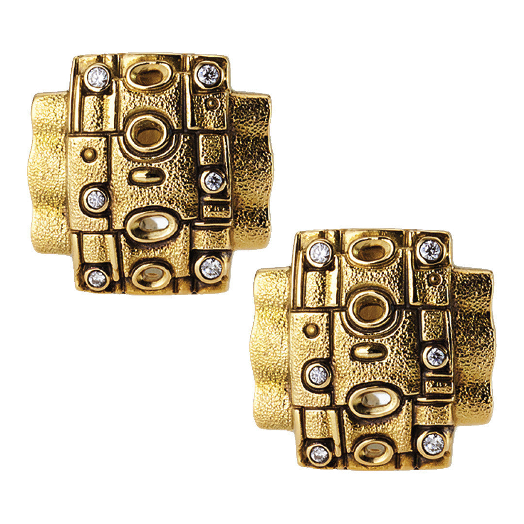 Alex Sepkus Cross Squared Earrings - E-216
