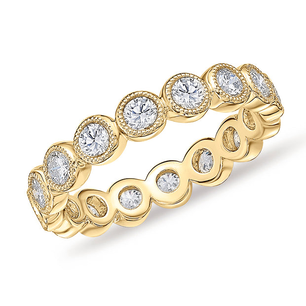 Passion Collection Diamond Yellow Gold Bubbles Eternity Ring