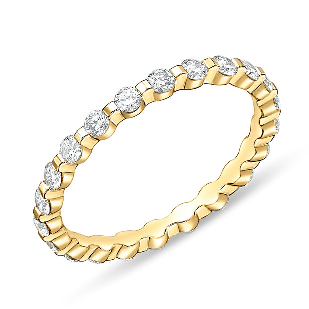 Passion Collection Diamond Yellow Gold Eternity Ring