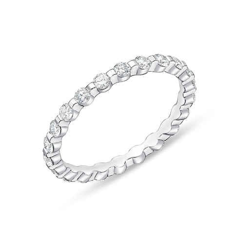 Passion Collection Diamond Precious Prong Eternity White Gold Band