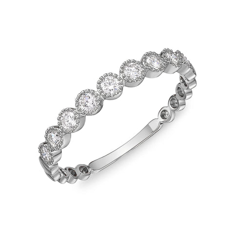 Passion Collection Stack'em Diamond White Gold Large Band