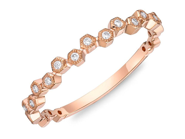 Passion Collection Stack'em Diamond Rose Gold Band