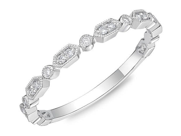 Passion Collection Stack'em Diamond White Gold Band