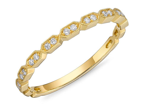 Passion Collection Stack'em Diamond Yellow Gold Band