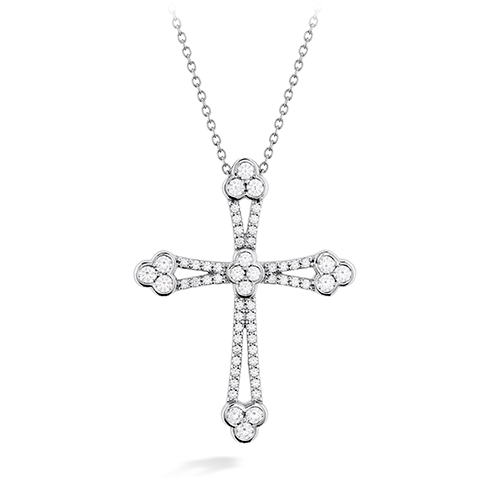 Hearts On Fire Effervesence Open Cross Diamond Necklace