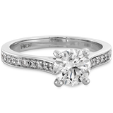 Hearts On Fire Enticement Channel Diamond Engagement Ring