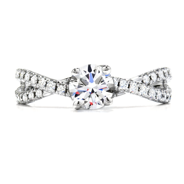 Hearts On Fire Envelope Twist Solitaire Engagement Ring