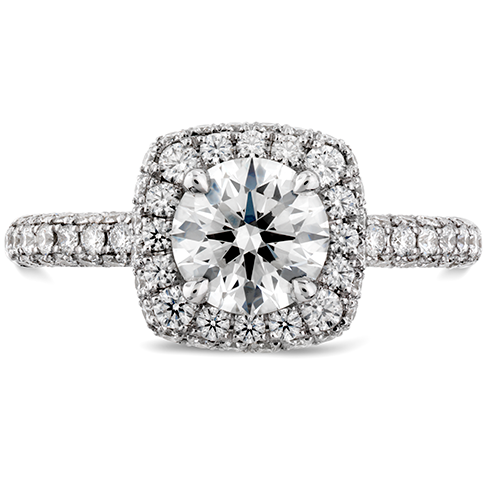 Hearts On Fire Euphoria Pave Diamond Engagement Ring