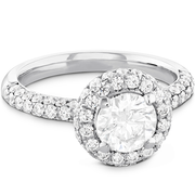 Hearts On Fire Euphoria Pave Halo Diamond Engagement Ring
