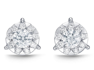 Passion Collection Diamond Bouquets Stud Earrings