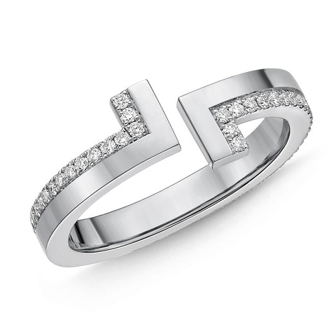 Passion Collection Diamond White Gold L Ring