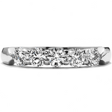 Hearts On Fire Five-Stone Wedding Band