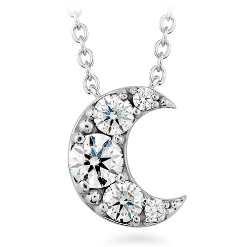 Hearts On Fire Fulfillment Half Moon Pendant Necklace