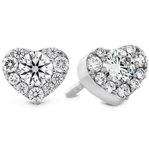 Hearts On Fire Fulfillment Heart Diamond Stud Earrings