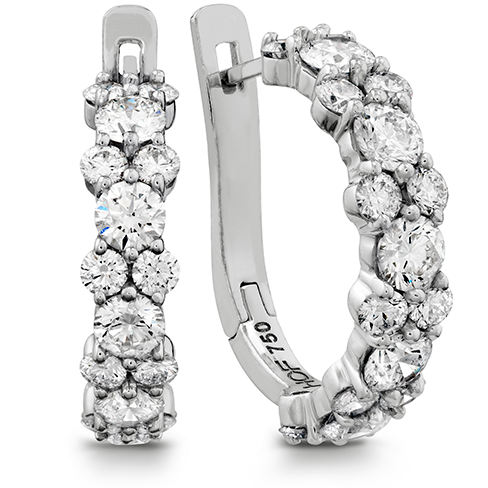 Hearts On Fire Gracious Diamond Hoop Earrings
