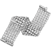 Hearts On Fire 6 Row Bezel Diamond Bracelet