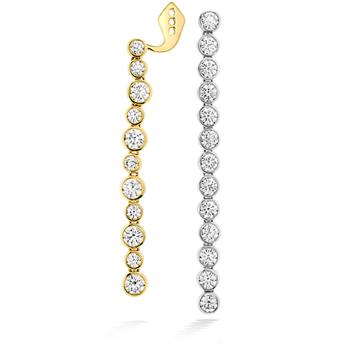 Hearts On Fire Bezel Line Diamond Earrings