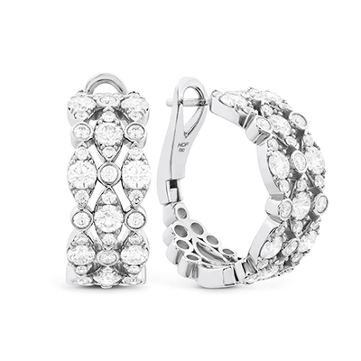 Hearts On Fire Bezel Regal Triple Hoops