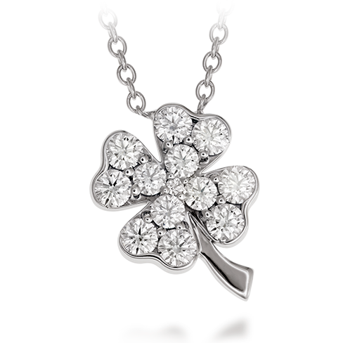 Hearts On Fire Clover Pendant Necklace