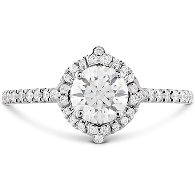 Hearts On Fire Compass Halo Diamond Engagement Ring