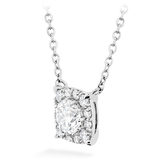 Hearts On Fire Custom Halo Diamond Necklace